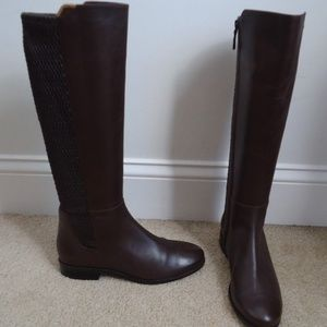 COLE HAAN Brown Leather Rockland Knee High Boot
